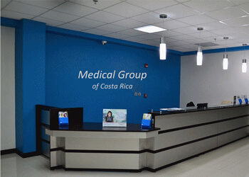 Picture of the reception at the Medical Group of Costa Rica